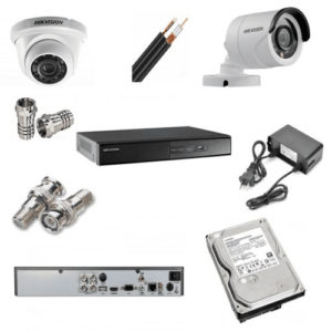 Hikvision 2nos 2 Megapixels Resolution HD CCTV Camera